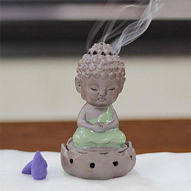 Meditating Buddha Incense Burner