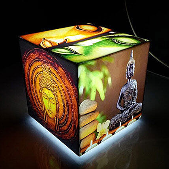 Gautam Buddha Cube Table Lamp:Buddha Gifts