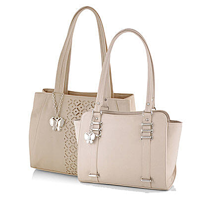 Attractive Beige Handbags Online:Buy Handbags