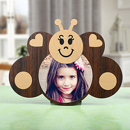 Wooden Butterfly Photo Frame