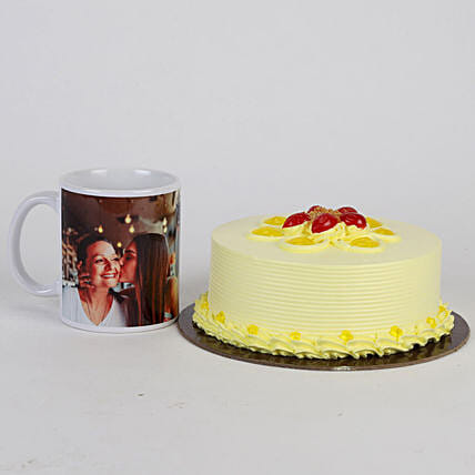 Mothers' Day Butterscotch Cake and Mug Combo