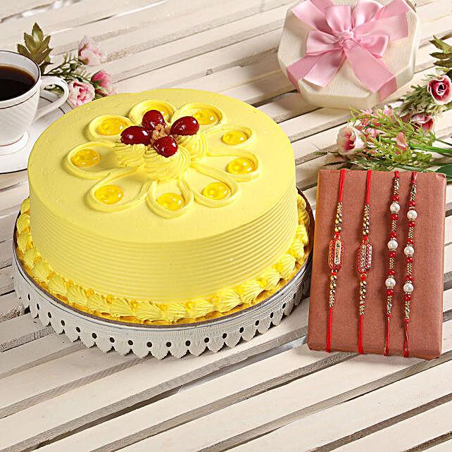 Online Cake and Rakhi Set