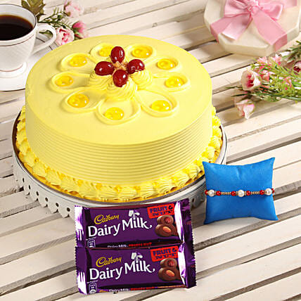 Rakhi with Cake & Chocolate For Brother