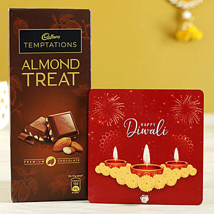 Almond Treat & Table Top:Send Diwali Gifts for Him