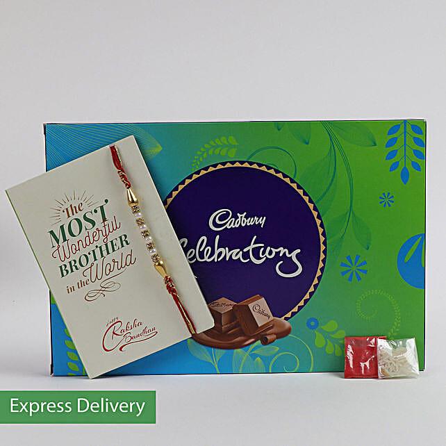 Cadbury Celebrations With Pearl Rakhi Combo