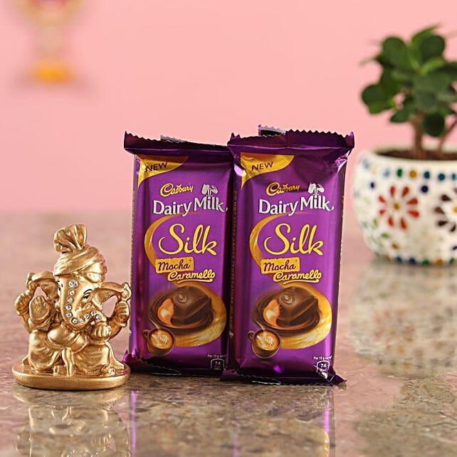 Cadbury Chocolates Golden Ganesha Idol