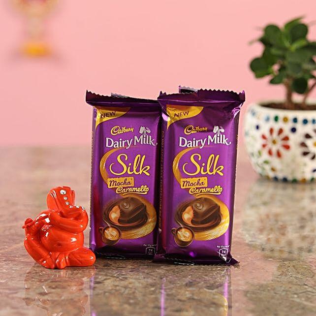 Cadbury Chocolates Orange Ganesha Idol