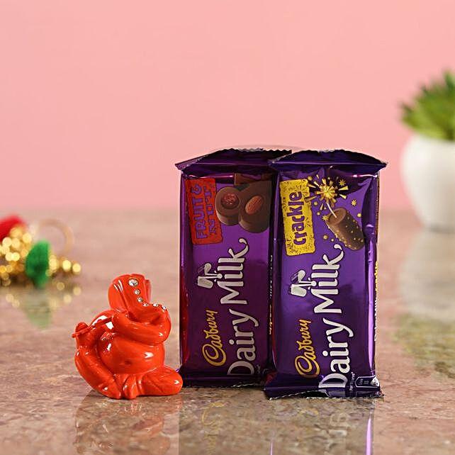 Cadbury Delights Orange Ganesha Idol
