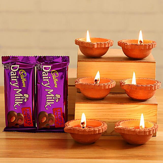 Cadbury Fruit Nut Chocolates With Diyas
