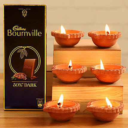 Cadbury Rich Cocoa Dark Chocolates Festive Diyas