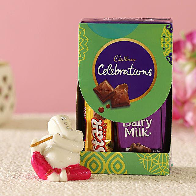 Cadbury & Serene Flute Ganesha Idol Combo