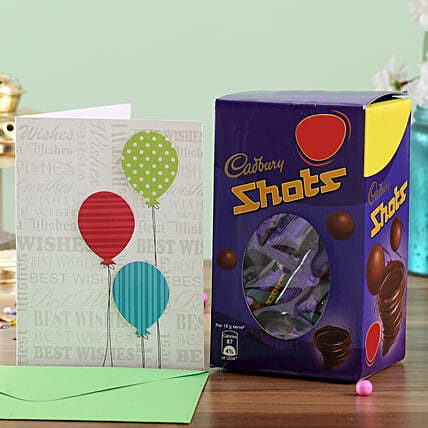 Chocolate and Birthday Card Combo Online