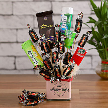 Mini Choco Bars & Candies in a Vase