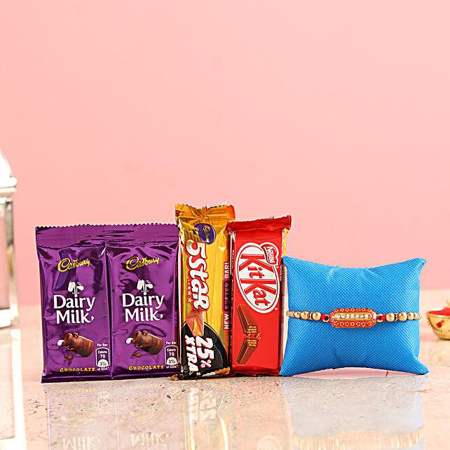 Capsule rakhi with chocolates online