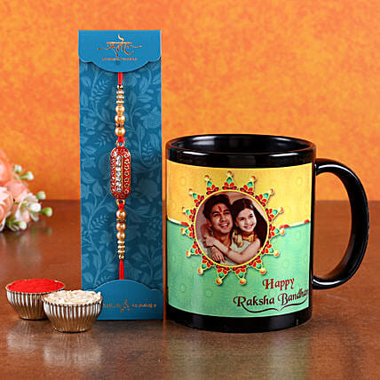 Rakhi and Siblings Photo Printed Mug