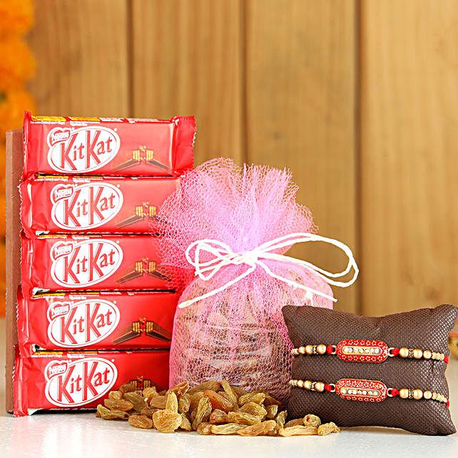 Capsule Rakhi Set With Raisins KitKat