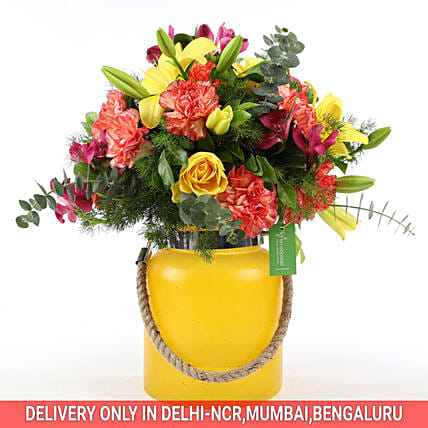Online Carnations & Asiatic Lilies Arrangement