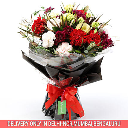 Buy Online Carnations & Daisy Bouquet