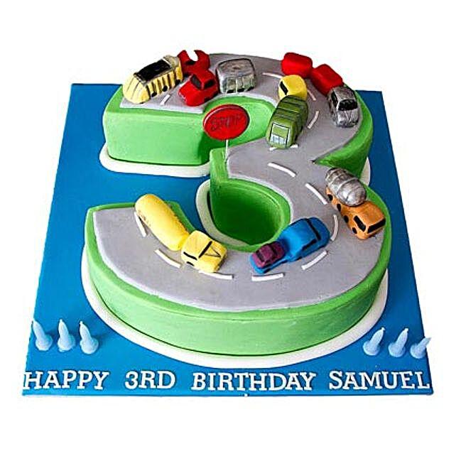 Cars Birthday Cake 4kg Eggless Pineapple