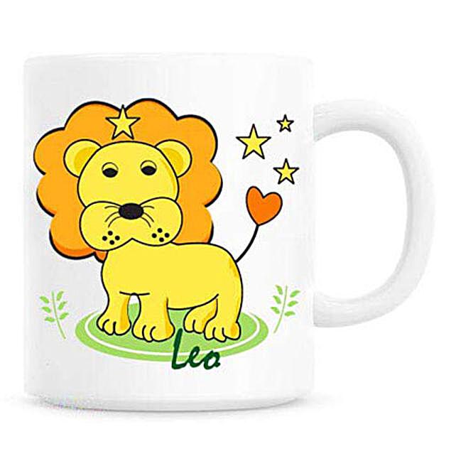 Cartoon Leo Mug-A gift that anybody born under Leo sun sign would love to have