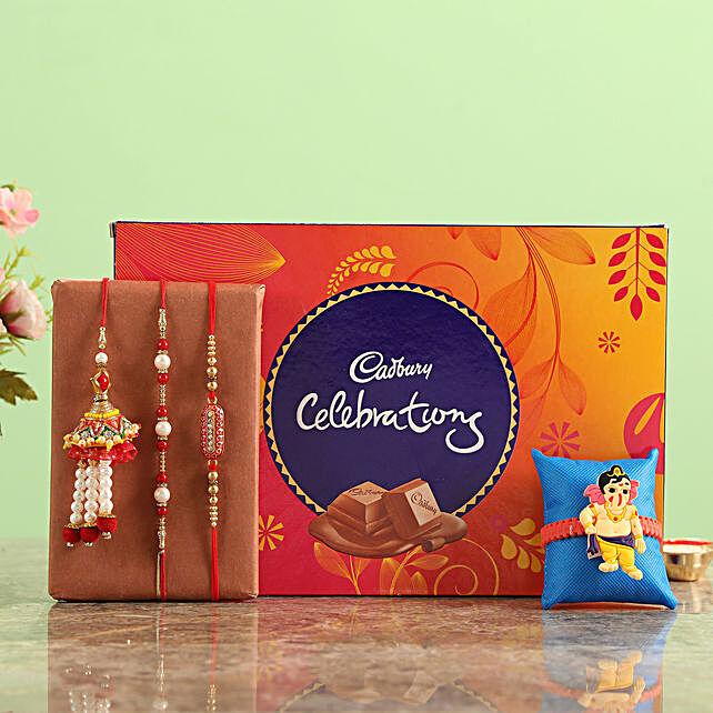 Buy Family Rakhi with Celebrations  Chocolates Box