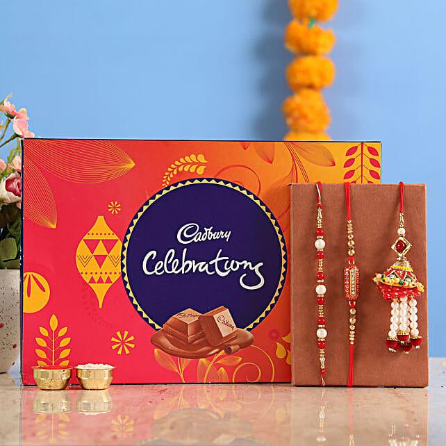 Buy Lumba rakhi set with celebration chocolates