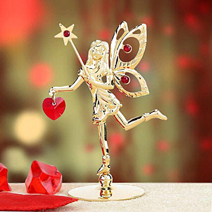 Golden fairy with star:Gold Plated Gifts