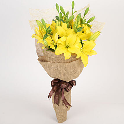 Lovely Lilies Bouquet Online:Yellow Flowers