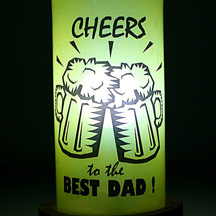 Printed Bottle Lamp shade for Dad