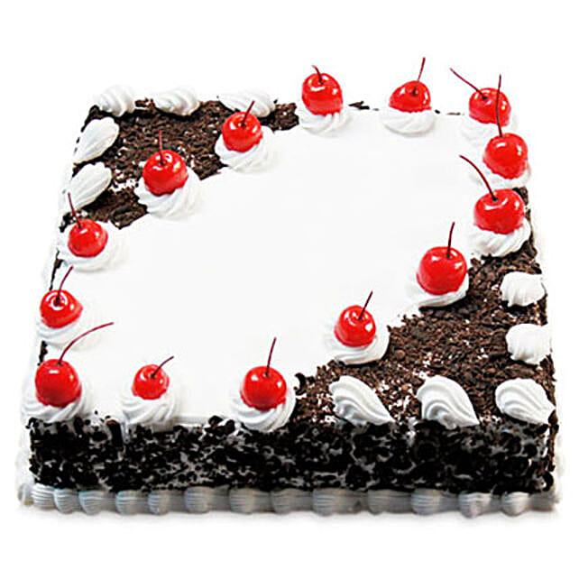 Cherry Blackforest Cake Half kg:Cakes Welcome New Born