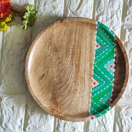 Chevron green Platter