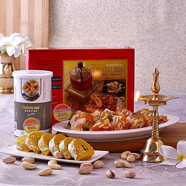 Chhappan Bhog Sweets & Cashews With Kerala Deep