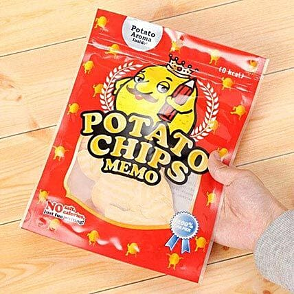 Shop Potato Chips Memo Pad Online