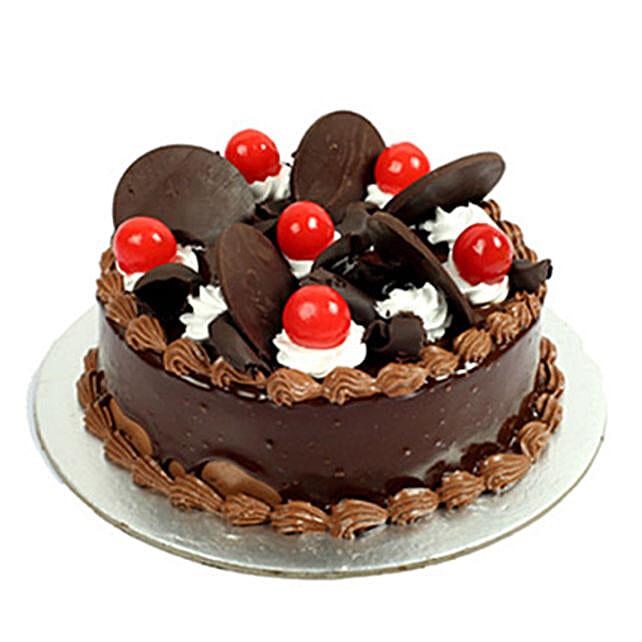 Yummy Chocolate Cake with Cherries:Birthday Cakes Agartala