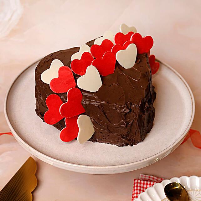 Online Choco Hearts Love Designer Cake