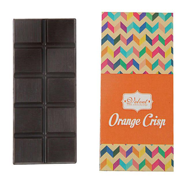 Orange Crunchy Chocolate Bar:Lucknow birthday gifts