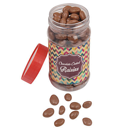 Raisins Chocolates Jar