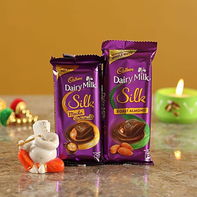 Chocolate Duo Lord Ganesha Idol