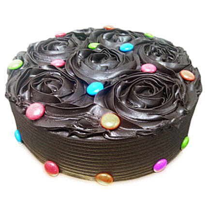 Chocolate Flower Cake Half kg:Rose Cake