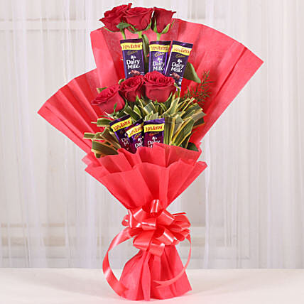 Chocolate Roses Bouquet chocolates choclates gifts:Flower Bouquet Delivery In Coimbatore