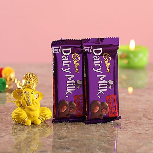 Chocolates With Yellow Ganesha Idol