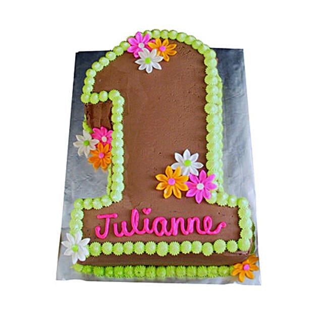Chocolaty 1st Birthday Cake 2kg Eggless Butterscotch
