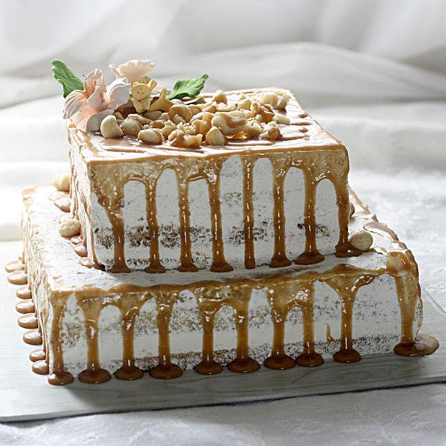 OnlineChocolaty Golden 2 Tier Cake:3 Tier Cake