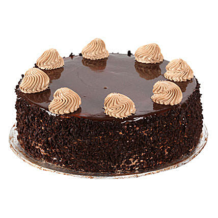 Chocolaty Indulgence 1kg:Send Birthday Cakes to Hyderabad