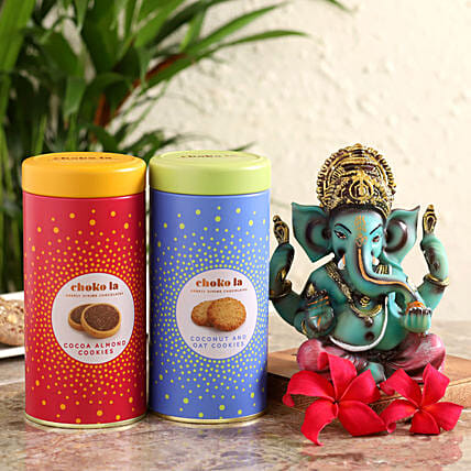 cookies n ganesha idol for mother:Buy Cookies