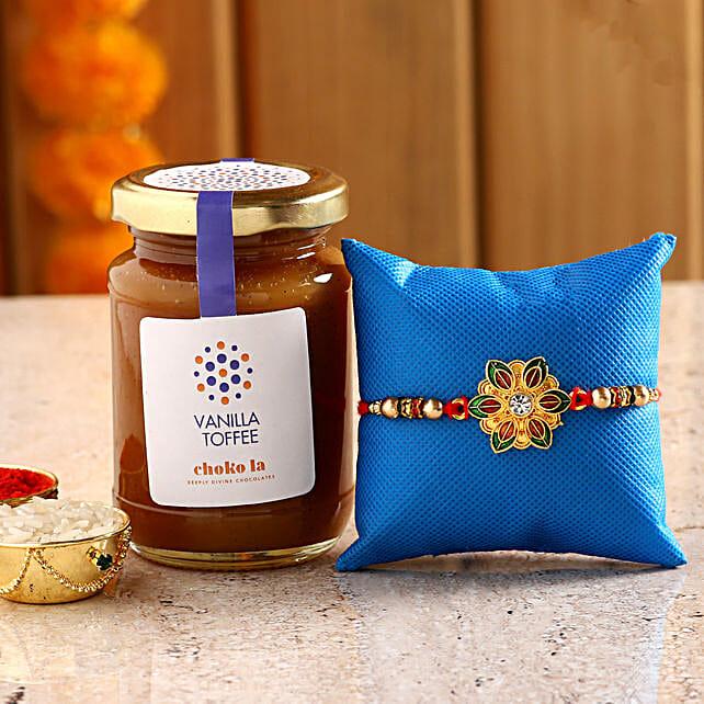 Online Vanilla  Spread And Rakhi:Rakhi With Choko La Gifts