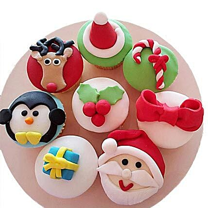 Christmas Special Cupcakes 6 Eggless