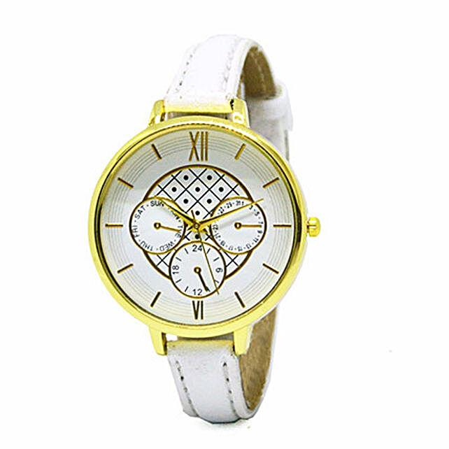 Chrono Print White Watches