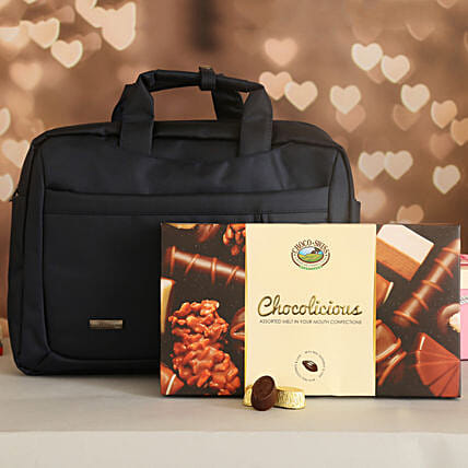 Classic Bata Laptop Bag And Choco Swiss Chocolates