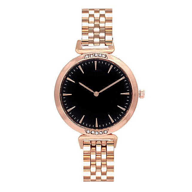 Online Classic Black Rosegold Watch